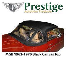 MGB Convertible Top Soft Top Tops 1962-1970 Black Canvas Fabric