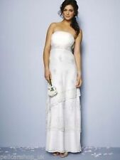 Nicholas Millington Embellished Strapless Wedding Dress   UK 18