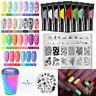 BORN PRETTY 8ml Nagel Stempel Gellack Pure & Fluorescent Nail Stamp Plates Kit