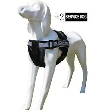 Non Pull Reflective Service Dog Vest padded with Removable Chest Plate & Patches