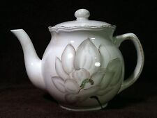 Jay Import Asiana Stoneware Teapot 5 Cup Flower Design