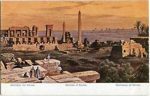 AK KARNAK Obelisken /ÄGYPTEN /EGYPT um 1908