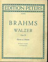 Brahms ~ Walzer Opus 39