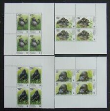 R.D.CONGO-Monkey-WWF 4 St.in block.MNH**-E3217A