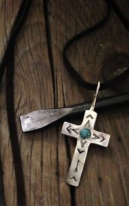 Sundance Artist Teeguarden Sterling Silver Heritage Cross Natural Turquoise $795