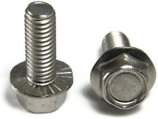 Stainless Steel Hex Cap Serrated Flange Bolt FT UNF #10-32 x 5/8