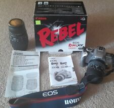 Canon Rebel EOS Ti Camera Sigma lens lot! 70-300mm 20-80mm manuals included