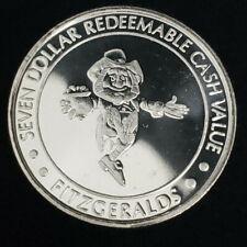 1993 CT Fitzgeralds Hotel Casino $7 .999 Silver Strike Leprechaun Token /FHC9326