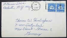 Us postal service cover ny Special Issue Stamp pair 10c par EE. UU. carta (y-21