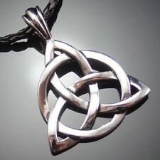 "Retro Celtic Knot Triquetra Trinity Pewter Pendant with 20"" Choker Necklace"