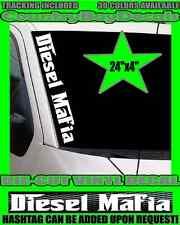 DIESEL MAFIA VERTICAL Pillar Windshield Vinyl Decal Sticker Truck Lifted Coal