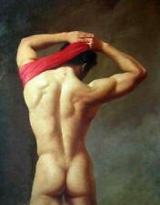 Hand-painted Portrait Oil Painting ON Canvas art wall, naked men A186 No Frame