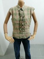 Camicia LUISA SPAGNOLI Donna Taglia Size 46 Shirt Woman Chemise Femme Lino 7397