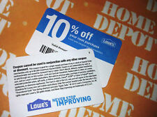 (20x) Lowes 10% Off Cards for Home Depot only Expires JUNE 15 2021