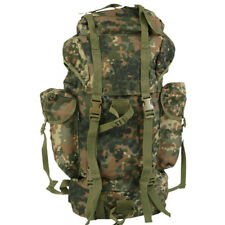 MILITARY BACKPACK COMBAT RUCKSACK HIKING CAMPING TRAVEL BW ARMY FLECKTARN CAMO