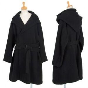 Yohji Yamamoto NOIR Hooded Flannel Coat Size 1(K-73800)