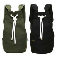 String Drawstring Back Pack Sack Gym Tote Bag School Sports Bag Canvas Rucksack