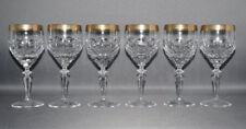 Theresienthal, 6er Satz Weingläser, Kristall, Goldrand, Handarbeit, 16,0 cm