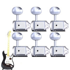 6Pcs Nickel Machine Heads Tuning Pegs Tuners For Strat Tele Electric Guitar 6R
