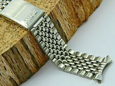 Vintage Rowi Prima-Plana Acier Inox Stainless Beads of Rice watch band 18mm