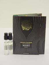 2 x MEMO FRENCH LEATHER Eau de Parfum EDP 2ml Vial Sample Spray With Card