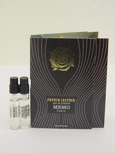 2 x MEMO FRENCH LEATHER Eau de Parfum EDP 2ml Vial Sample Spray With Card