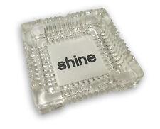 Shine® Logo Glass Ashtray, 1 Paper, COA, Stickers & BONUS Shine Greeting Card
