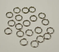 50 Anneaux double de jonction argenté 7mm, Creation bijoux, colier, .... 7 mm