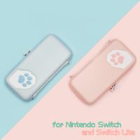 Cute Cat Paw Carrying Case Pouch Bag for Nintendo Switch and Switch Lite