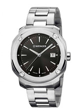 SWISS ARMY WENGER 01.1141.109 Men's Edge Stainless Steel Watch Black Dial