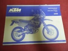 SPARE PARTS MANUAL CHASSIS  D'OCCASION KTM LC 4 ADVENTURE R 640 ANNEE 2000
