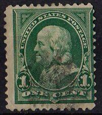US 1898 Scott # 279 Benjamin Franklin 1 Cent Deep green STAMP