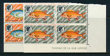 Ascension 1970 sg127w +129 W Peces Sello Bloques De 4 Mnh