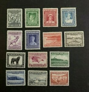 Newfoundland Stamps #253-266 Mint Never Hinged