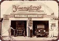 "1934 Antique PA Brewery Prohibition Yuengling Rustic Retro Metal Sign 8"" x 12"""