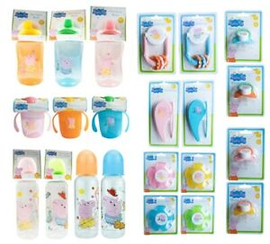 Peppa Pig Non Spill Toddler Beaker Twin Handle Cup Soother Brush & Comb BPA Free