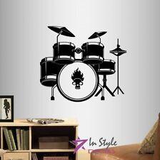 Vinyl Decal Drum Set Drummer Drums Music Musician Rock Band Wall Sticker 879