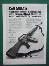 7/1978 PUB COLT FIREARMS COLT M16A1 RIFLE FUSIL 5.56 MM KAMPFGEWEHR GERMAN AD