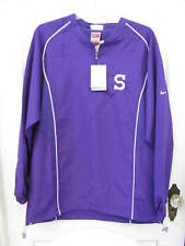 NWT Nike Fit Dry Windbreaker Golf Football Track Jacket SZ S Purple Bulldog