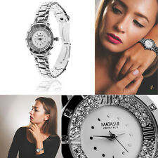 New! 18K White Gold Plated Woman's Watch w/ 60 High Quality Crystals by Matashi