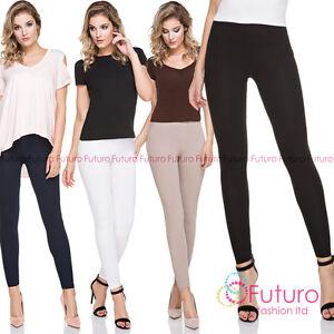 PREMIUM Line Leggings Full Length Cotton Pants Not See Through FF1PR