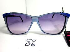 Elegant Optical Vintage 1980s/90s Women's Sunglasses Daksha Blue Black (Eo-06)