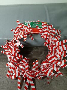 Christmas Holiday Garland 25 ft. Foil Red and White Candycane Christmas Decor