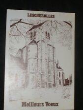 CPSM 77 - Eglise de  LESCHEROLLES - Meilleurs Voeux -