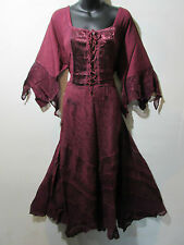 Christmas Dress 1X 2X Plus Burgundy Corset Lace Up Chest and Hem Holiday NWT 522