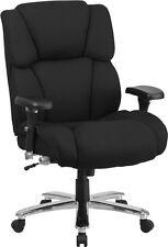 Hercules Multi-Shift Big & Tall Black Fabric Executive Swivel Office Chair