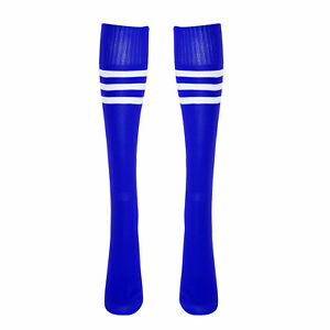 1Pair Stripped Solid Color Knee High Long Football Sock Sports Cheerleading Sock