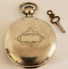 1857 WALTHAM Civil War Victorian Key Wind Coin Silver Full Hunter Pocket Watch