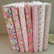DIY Stoffpaket rosa Quilt Stoffreste 7*(25*25cm) 100 %25 Baumwolle