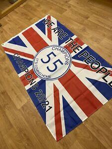 Brand new Glasgow rangers 55 champions flag 5x3ft U.K. In Stock